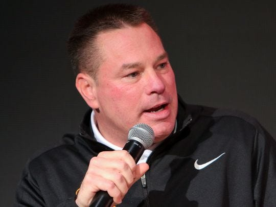Tennessee head football coach Butch Jones speaks during the joint head coach press conference at Brenda Lawson Athletic Center on Feb. 23, 2016. (Photo: Randy Sartin / USA TODAY Sports)