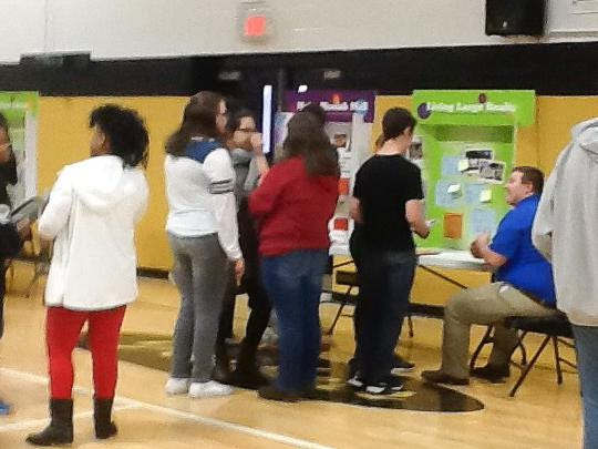 """Springfield Middle School students learn what it's like to be """"on their own"""" during a recent event."""
