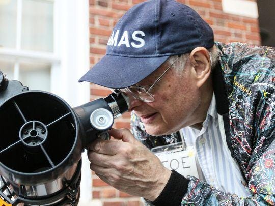 Morris Museum Astronomy Club member Joe Molnar at an Astronomy Day event at the Morris Museum.
