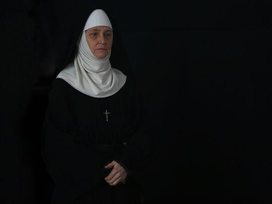"Melissa Leo portrays Reverend Mother, who oversees a class of would-be nuns, in ""Novitiate."""