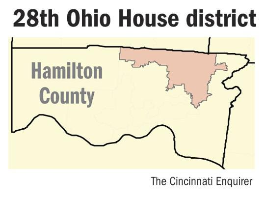 The 28th Ohio House District in Northeast Hamilton