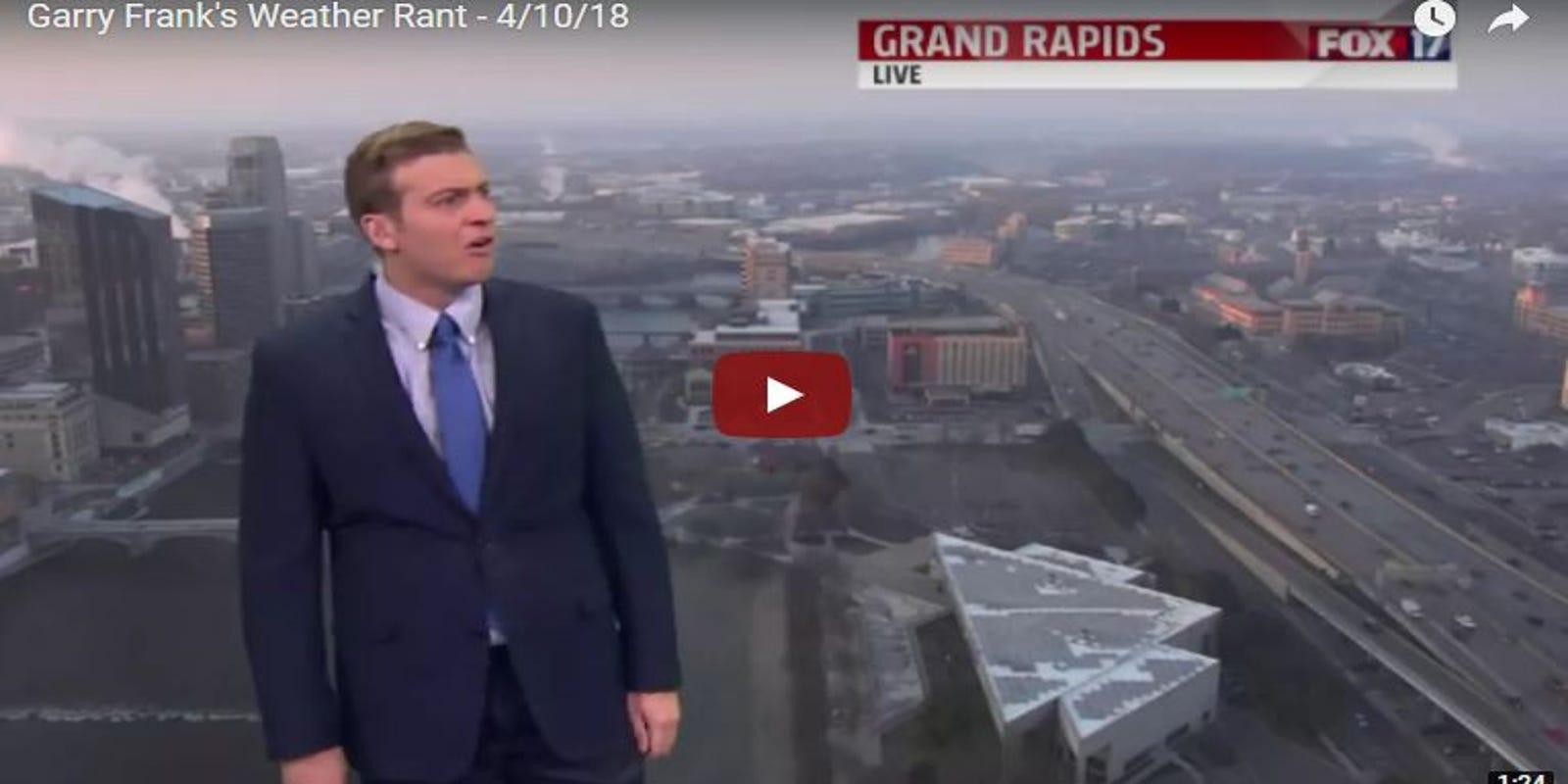 Grand Rapids weatherman's live rant goes viral