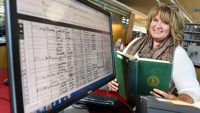 People come to Wendy Sykes at the St. Cloud Public Library with their questions when doing genealogy searches. Skyes has access to census records, births, deaths, marriages and military records.