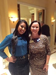 Nancy Sanchez poses with Heights Foundation CEO Kathryn