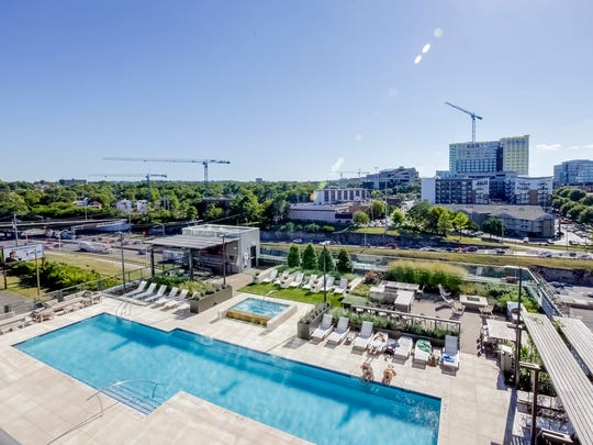 In addition to a pool and a fitness center, the 1212