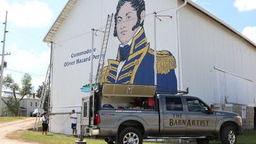 Historic barn mural depicts Commodore Oliver Hazard Perry