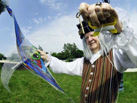 Ben Franklin toyed with electricity, first in the form of a metal key attached to a sky-bound kite.