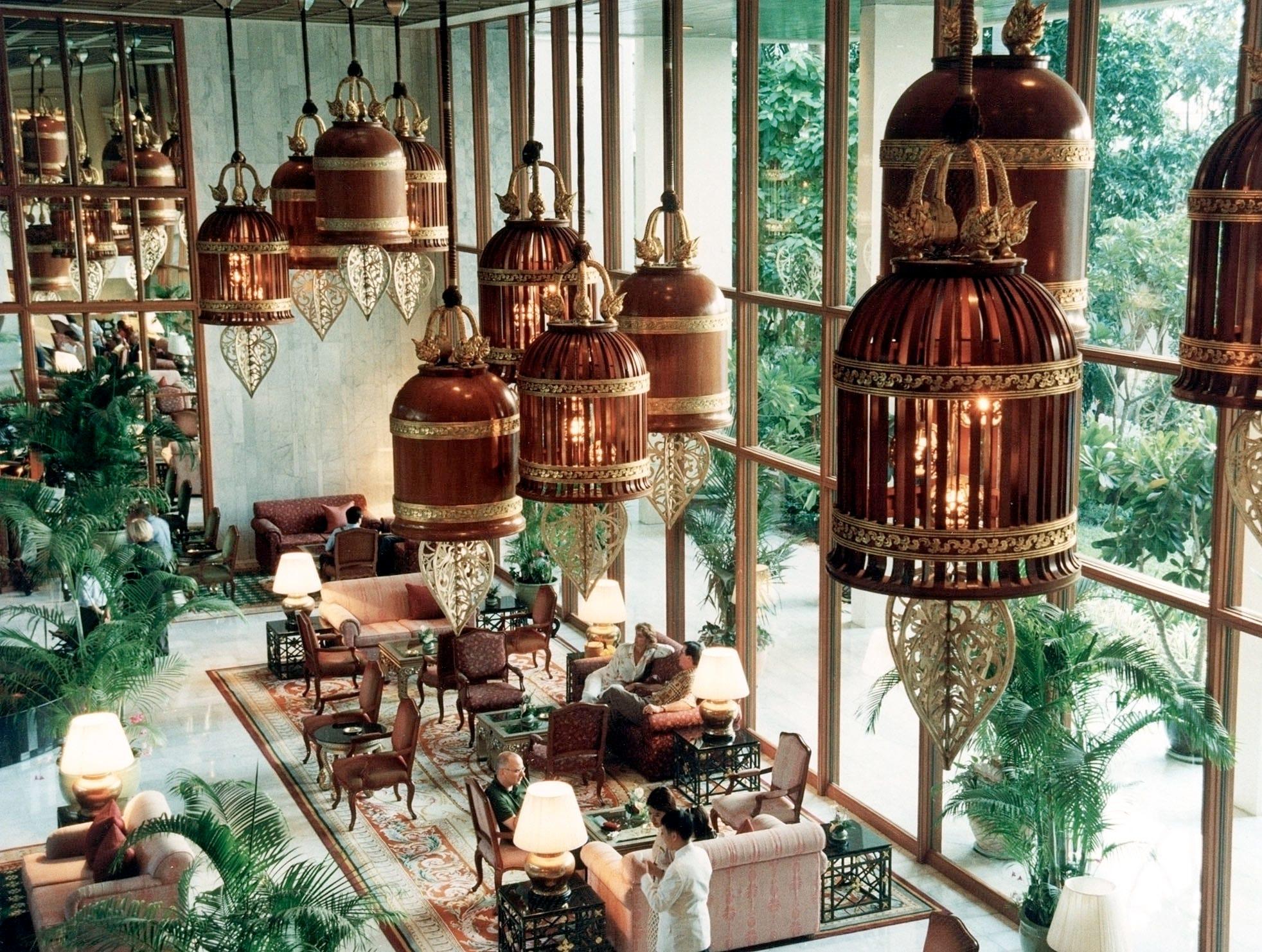 The lobby of Mandarin Oriental, Bangkok, conveys an instant sense of place.
