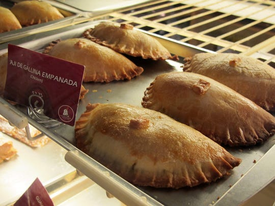 Fresh empanadas on display Feb. 8, 2017, at Gustitos Bakery Cafe's original location at 5417 Airport-Pulling Road in North Naples.