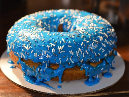 Sweet Big Blue Doughnut New To Ford Field Menu