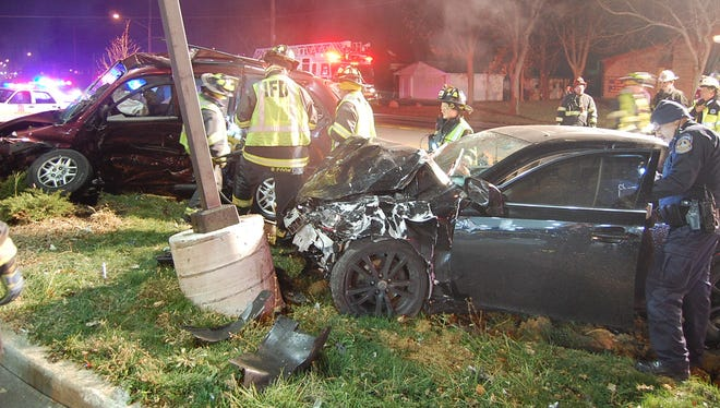 Indianapolis Metropolitan Police Department and Indianapolis Fire Department crews responded to a fatal accident on the Southside Saturday, Dec. 5, 2015.