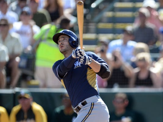 buy popular d7ecf fd572 Ryan Braun homers in first at-bat back from drug ban