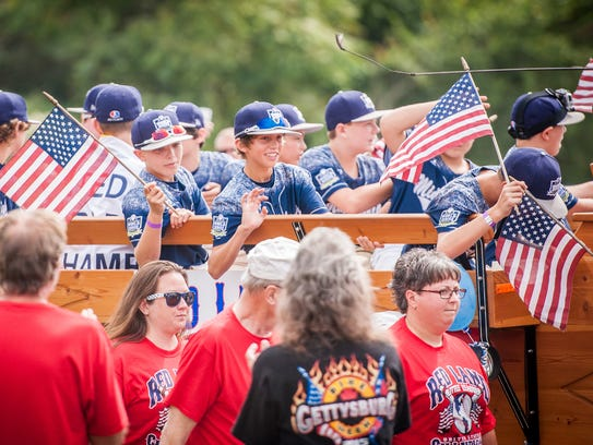 The community celebrated the 2015 Little League World