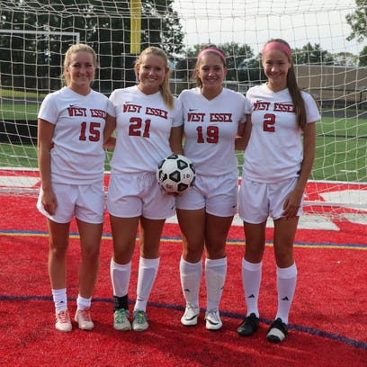 West Essex girls soccer team captains: (from left)