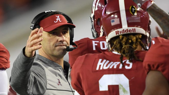 Former Washington coach Steve Sarkisian ended up spending just one game as the offensive coordinator at Alabama, the College Football Playoff championship, before taking a job in the NFL.