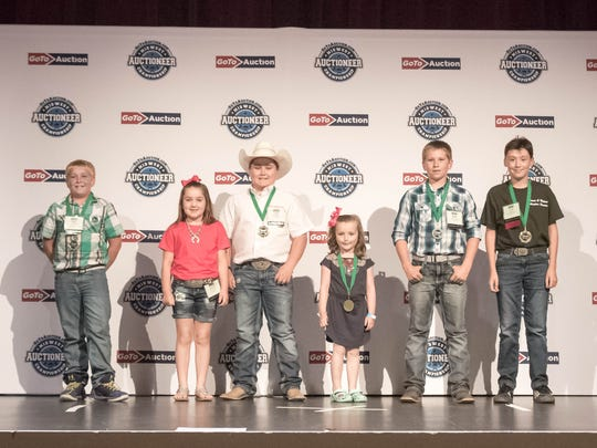 The kids auction was conducted by Riley Peters, Kyanne Casey, Trey Casey, Harper Cole, Wyatt Peters, Luke Helmer.