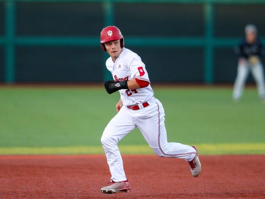 IU infielder Drew Ashley was named to the All-Big Ten Freshman team last year.