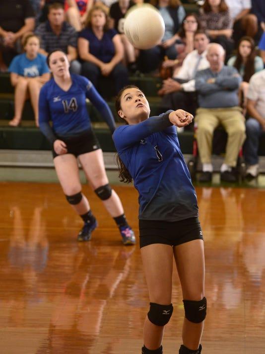 Catholic High volleyball hosts Washington High