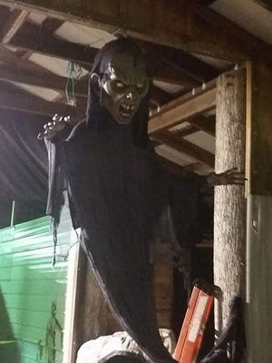 Haunted house preparations this year at fairgrounds as part of Smoke Fest.