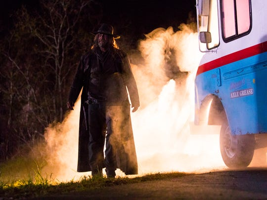 The Saint of Killers (Graham McTavish) is hot on the