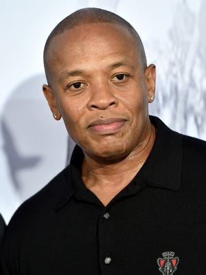 Dr. Dre arrives at the premiere 'Straight Outta Compton' on August 10.