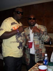 Jerrell Powe and Melvin Mathis out at a party together.