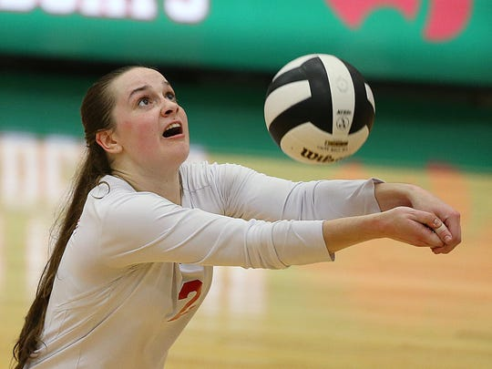 Lawrence North's Megan Beasley (2).
