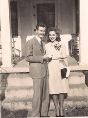 Nathan and Evelyn Graham on their wedding day, Jan. 1, 1946 in Alabama.