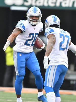 Lions defensive back Quandre Diggs, left, was one of Detroit's pleasant surprises last season.