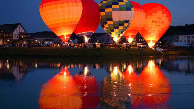 """Spring Hill's Hot Air Balloon Spectacular Saturday, Oct. 27, will include a """"glow"""" at dusk."""