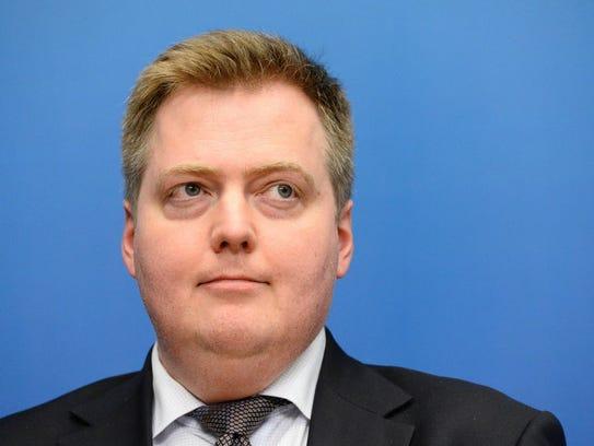 Prime Minister of Iceland Sigmundur Gunnlaugsson.