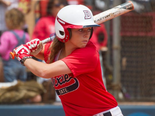 Dixie State shortstop Josey Hartman broke a program