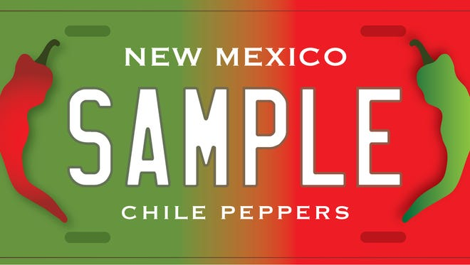 The New Mexico Farm and Ranch Heritage Museum drafted three chile license plates. The designs are not finalized
