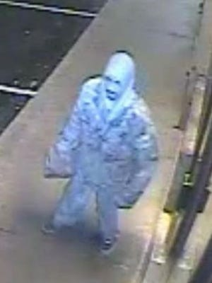 State police are searching for this man who they say broke into a Prices Corner pizza shop and stole money Dec. 15.