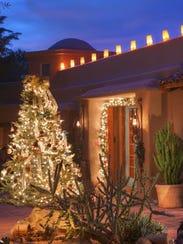 Holiday decor at Lon's at the Hermosa.