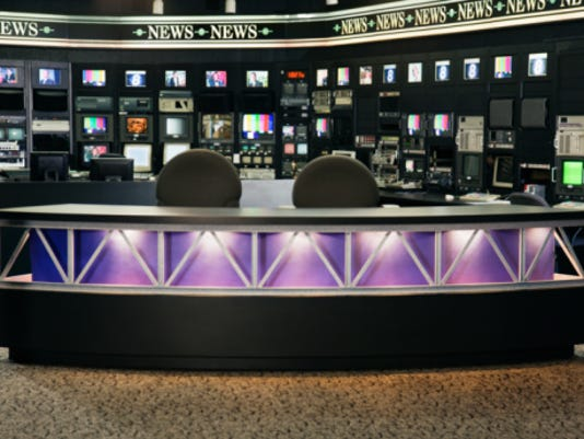 An empty newsroom