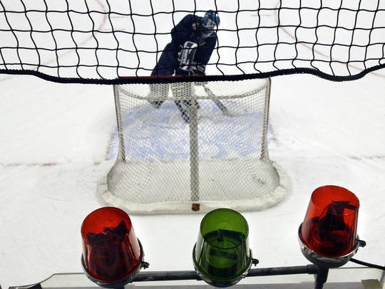 The NHL added netting behind the goal line after a