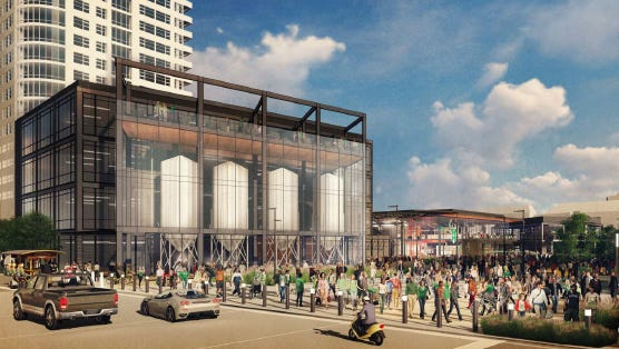 A downtown entertainment center that will be developed just east of the future Milwaukee Bucks arena received unanimous Plan Commission approval Monday.