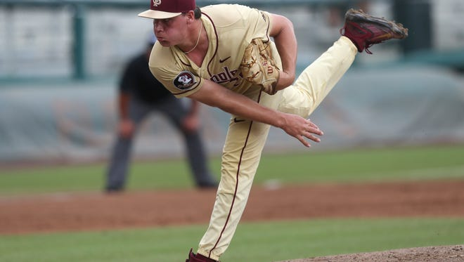 Junior pitcher Cole Sands threw six scoreless innings in FSU's 7-3 win over Troy Friday.
