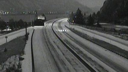 I-84 in Hood River Wednesday morning.