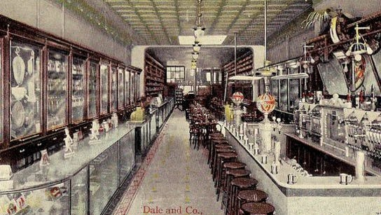 The interior of the Dale & Co. drugstore in York.