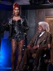 Laverne Cox and Ben Vereen in 'The Rocky Horror Picture Show.'