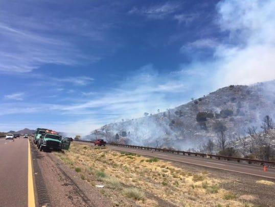 SR 87 brush fire north of Sunflower