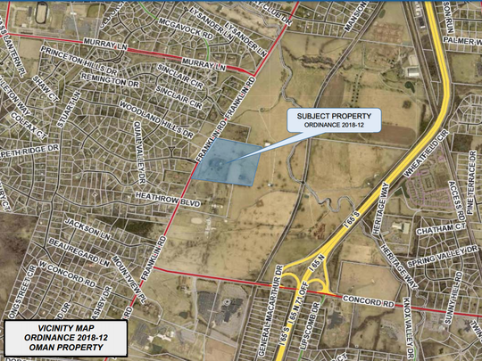 Developers are seeking to rezone 34 acres along Franklin Road in Brentwood to make way for a proposed 21-home subdivision.