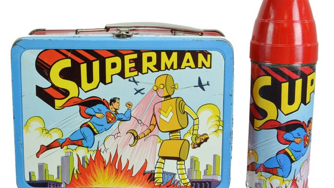 The market for toys and collectibles continues to be strong. This vintage 1954 Superman lunchbox sold for $1,200 at a recent J. Levine auction to an online bidder from New York.