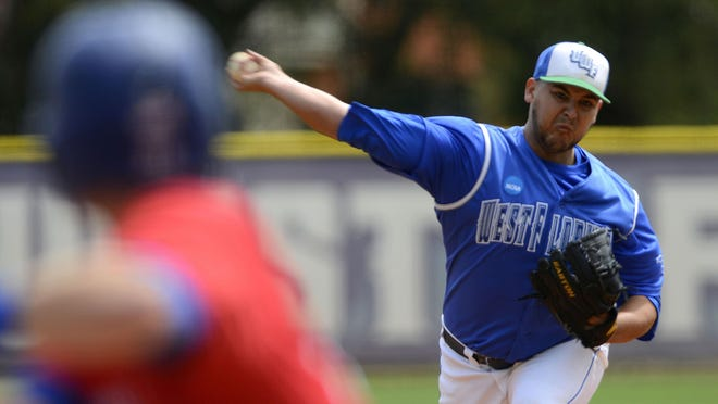 West Florida pitcher JT Granat goes up against the West Georgia Wolves Sunday at Jim Spooner Field. Granat was a first-team All-Conference selection.