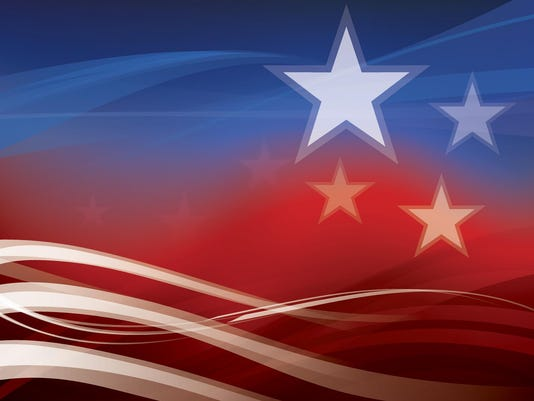Abstract American Flag background
