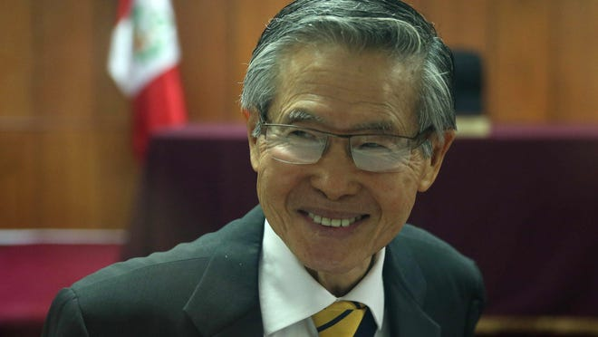 A file picture dated July 2015 of the former president Alberto Fujimori during a hearing in Lima, Peru. EPA-EFE/Paolo Aguilar