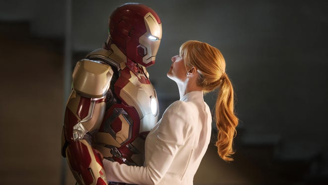 "Robert Downey Jr. (left) and Gwyneth Paltrow (right) star in Wilmington-shot blockbuster ""Iron Man 3."" It screens July 10 in the Kenan Auditorium parking lot on the UNCW campus as part of the Curbside Cinema series."