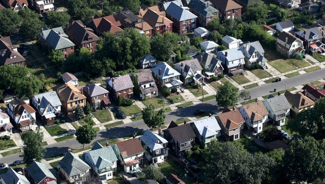 A neighborhood in Detroit.